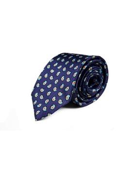 Corbata Paisley Azul Tinta