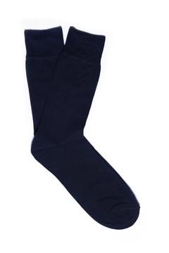 Calcetín liso azul