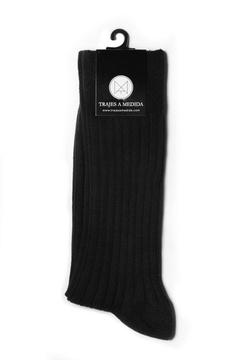 Calcetín rayado negro