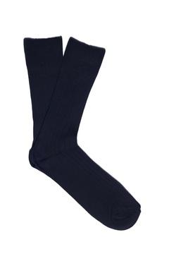 Calcetín rayado azul