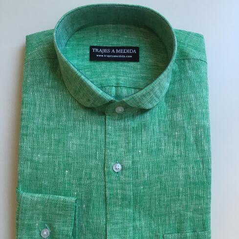 Camisa de lino cuello club