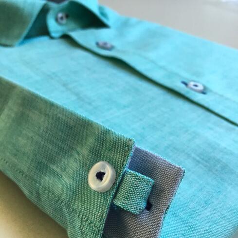 Camisa de lino puño cabo